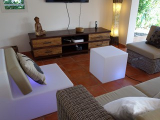 Location Villa Guadeloupe - Living confortable, TV LCD 50po, chaines ++
