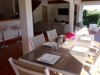 Location Villa Guadeloupe - Table moderne, 8 places assises