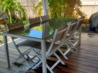 Location Villa Guadeloupe - table sur terrasse