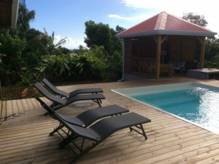 Location vacances Villa Sainte-Rose: Coin piscine ...<br />