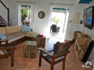 Location Villa Martinique - Grand salon central vue mer, cable, internet