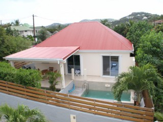 Location Bungalow Saint-Barth : piscine, clim, internet