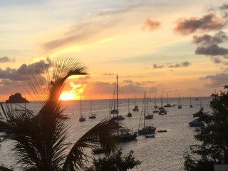 Location vacances Villa Gustavia: Sunset from Villa PLEASURE ...<br />