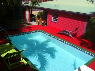 Location Villa Saint-Martin - vue piscine creole delight