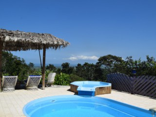 Location Villa Guadeloupe : vue mer, piscine, internet